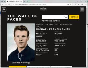 Virtual wall photo of Michael Francis Smith